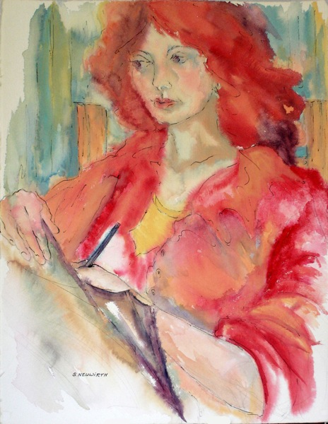 Red Haired Girl Writing